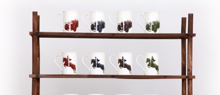 British bone china mugs by Georgie Parker