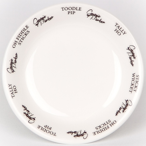 Unique British made Georgie Parker grey bone china coaster.