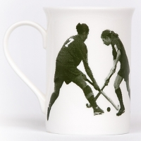 Unique British made Georgie Parker green Oh Fiddle Sticks bone china mug.