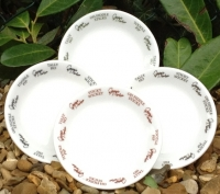 Unique set of four Georgie Parker British made bone china coasters.